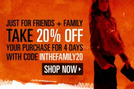 ShopBop Loves their Friends and Family (YOU)