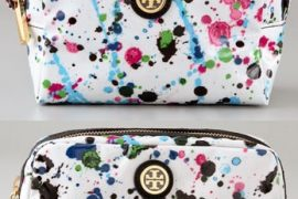 Tory Burch splatters paint on Cosmetic Cases