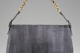 For the more conservative among us, Fendi also makes lovely sueded snakeskin
