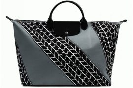 Longchamp and Jeremy Scott team up for a tire-print Le Pliage