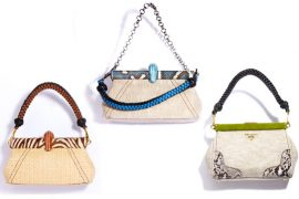 Prada rings in Resort 2011 with exotically accented linen and straw bags