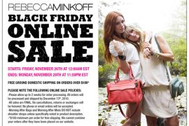 Get ready for Rebecca Minkoff's Black Friday sale!