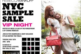 Rebecca Minkoff NYC Sample Sale (VIP PB + tPF night)