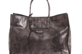 I can't even tell you how much I love the dark silver finish of this Balenciaga tote