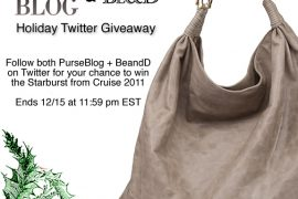 PurseBlog + Be&D Starburst Giveaway on Twitter
