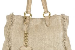 Resort has arrived with the Miu Miu Fringed Linen Tote