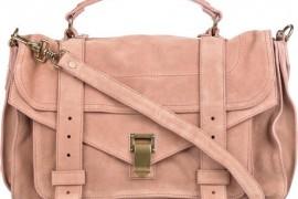 Proenza Schouler PS1 in rose suede