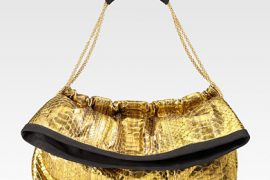 Thakoon impresses with a lush gold python clutch