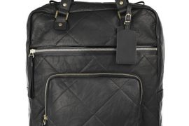 "Nothing says ""fly the friendly skys"" like a Lanvin leather rolling suitcase"