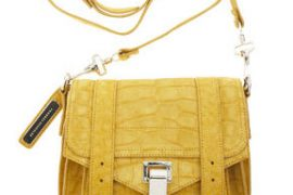 Seriously Covetable: The Proenza Schouler PS1 Pouch in yellow crocodile