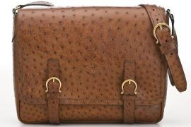 Man Bag Monday: Salvatore Ferragamo Ostrich Messenger Bag