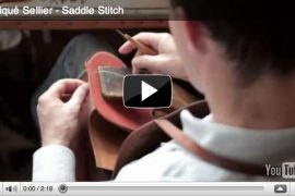 See what it takes to stitch through Hermes leather