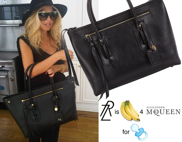 Rachel Zoe Is Bananas For Her Alexander Mcqueen Diaper Bag
