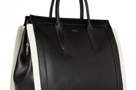 Bally adds contrasting trim to a prim leather tote