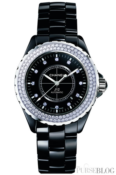 ladies chronograph watch watches chanel ceramic image amp diamond