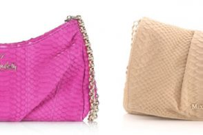 Look for Less: Snakeskin clutches