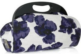 Simple and cute: Milly Floral-print woven cotton clutch