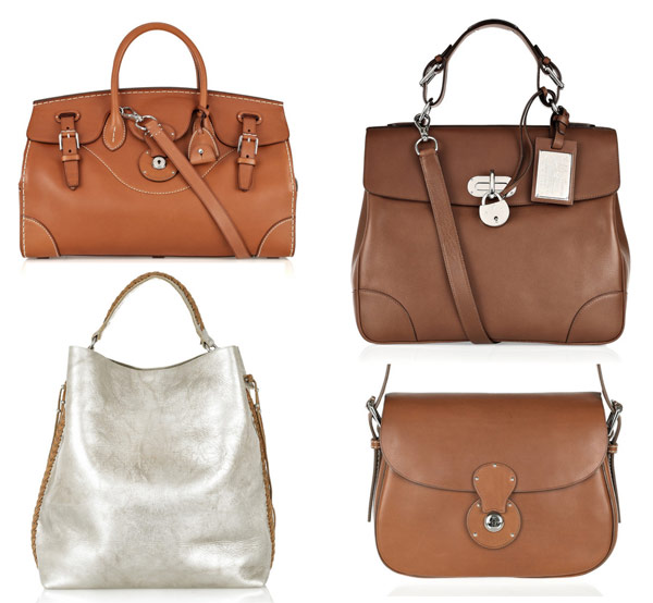 9a5d032c63c6 lazy placeholder. Clockwise from top left  Ralph Lauren Collection Ricky  Satchel ...