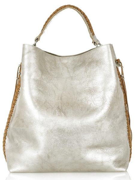 6d7e9db826 Ralph Lauren Collection Laced Metallic Leather Tote - PurseBlog