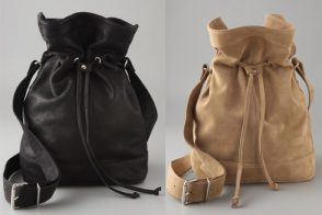 Who says a bucket bag can't also be minimal?