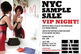 Join us at the Rebecca Minkoff Sample Sale VIP Night