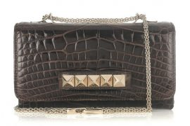 Valentino goes for the gold with sleek crocodile