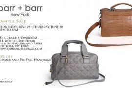 barr + barr Sample Sale