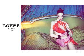 Check out Loewe's Fall 2011 ads, featuring the brand new Flamenco Bag