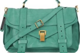 The Proenza Schouler PS1 in teal screams summer