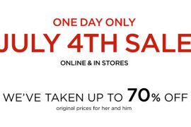Shop the Saks July 4th One Day Sale!