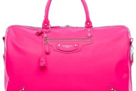 Bright and bold, Balenciaga Voyage 24H Rose Fluo