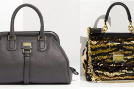 Somehow, these two Dolce & Gabbana bags both come from the same collection