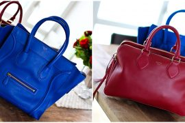 Red vs Blue. Celine Triptyque vs Mini Luggage Bag. Pick Your Poison!