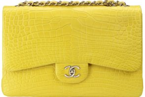 Chanel Classic Flap in Yellow Alligator