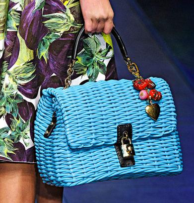Fashion Week Handbags  Dolce   Gabbana Spring 2012 - PurseBlog 5e75a1f489