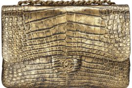 Wednesday calls for a Chanel Classic Flap in Gold Alligator