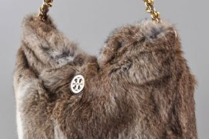 The Tory Burch Fur Hobo looks warm