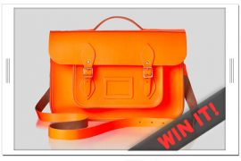 SHEfinds is giving away a Cambridge Satchel Company Neon Fluro Bag