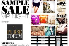 RSVP for the Rebecca Minkoff + PurseForum VIP Night Sample Sale in NYC