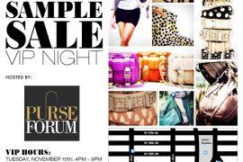 RSVP for the Rebecca Minkoff + PurseForum VIP Night Sample Sale in NYC