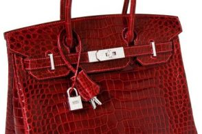 This crocodile Hermes Birkin set a new price record for handbag auctions