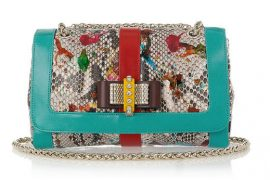 Christian Louboutin brings my favorite python finish to handbags