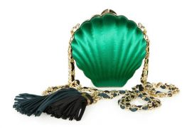 Lanvin goes shore chic with a shell purse