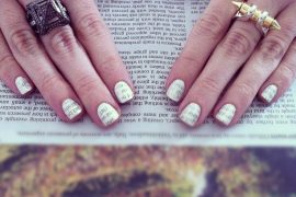 Sunday Funday: Newspaper Manicure