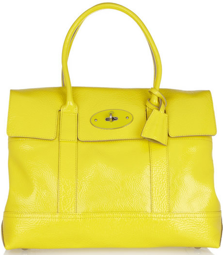 Mulberry Holiday Bayswater Patent Textured Leather Bag