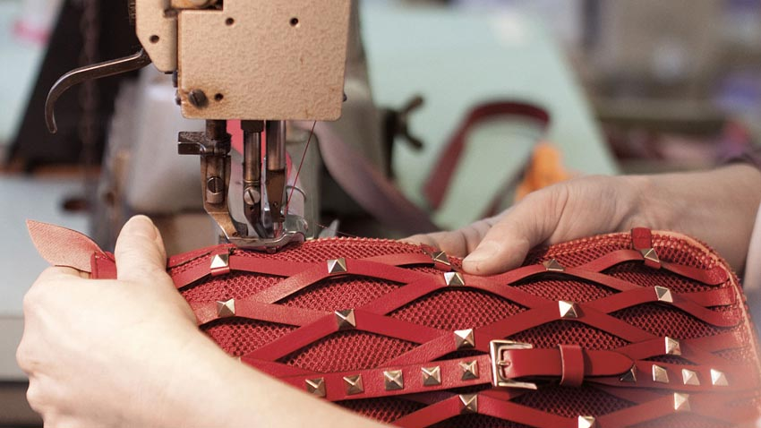 Behind The Scenes Making Of A Valentino Rockstud Bag