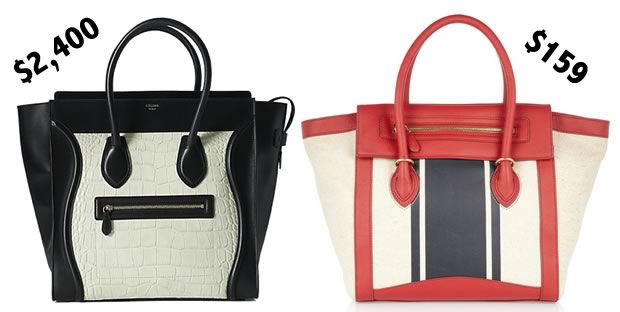 f9d237b4aa36 Look for Less  Celine Luggage Tote - PurseBlog