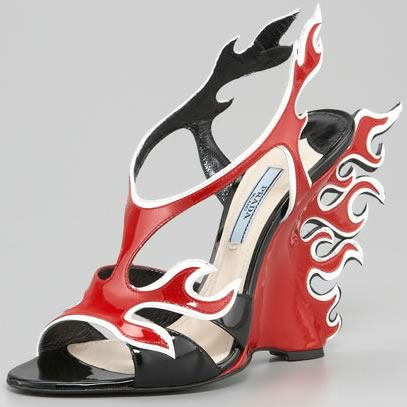 a318960fef12 The Prada Flame Wedge Sandals look good and taste good - PurseBlog