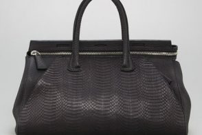 Holy snakeskin, you guys: The VBH Milano Sunbeam Snake Bag