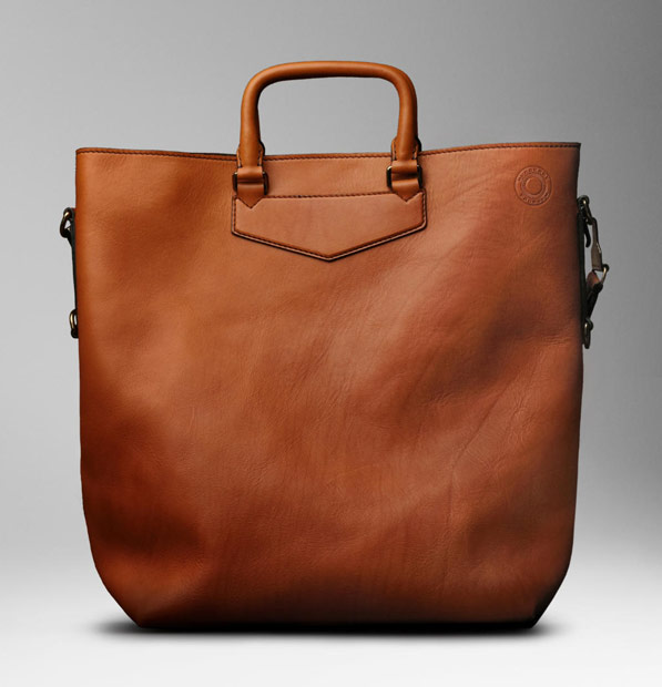Man Bag Monday: Burberry Large Washed Leather Tote - PurseBlog